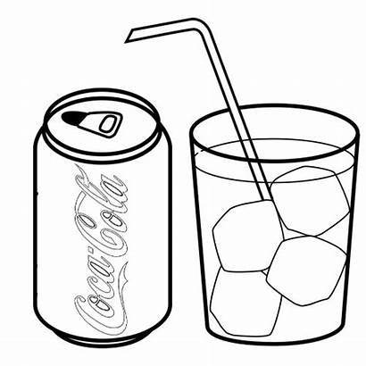 Cola Coloring Coca Drink Soft Drinks Glass