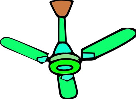 Fan Clipart Green Ceiling Fan Clip At Clker Vector Clip