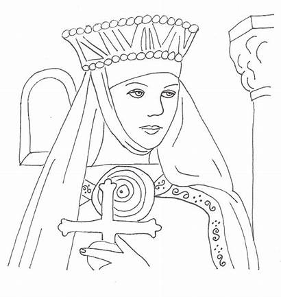 Coloring Pages Scottish Margaret Scotland St Mary