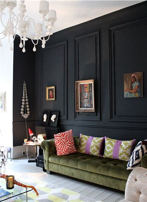 Schwarze Wand Wohnzimmer by 28 Ideas For Black Wall Interiors How To Style Them