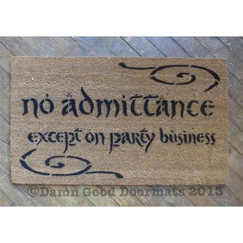 Lord Of The Rings Doormat by Tolkien Quote Doormat Bilbo Baggins Welcome To Bag End