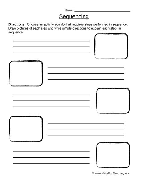 sequencing worksheets page 2 of 2 teaching