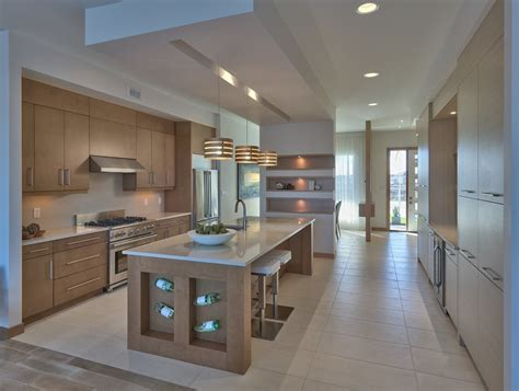 photo de cuisine ouverte avec ilot central modele de cuisine avec ilot central maison design