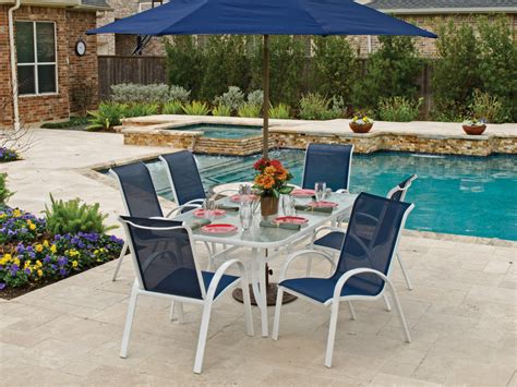 blue outdoor table and chairs patio furniture austin for minimalist house cool house