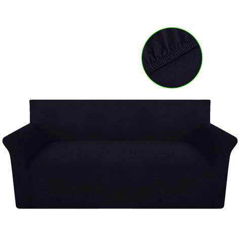 housse de canapé noir la boutique en ligne vidaxl housse de canapé en jersey de