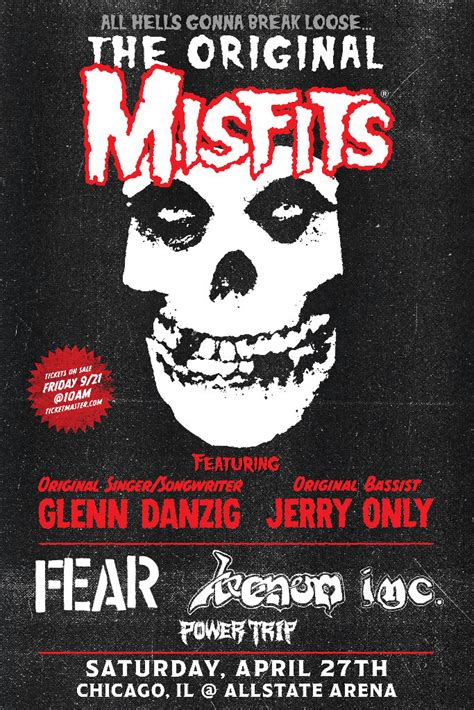 Misfits book April 2019 show at Chicago's Allstate Arena ...