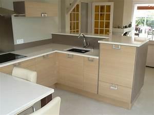 Plan De Travail Bois Pas Cher : meuble de cuisine avec plan de travail intgr awesome ~ Edinachiropracticcenter.com Idées de Décoration
