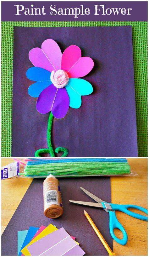 paint sample flower craft crafts flower crafts st