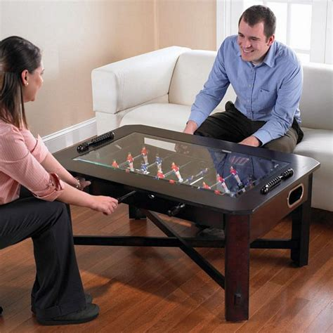 cool things to put on a desk foosball coffee table set your drink put your feet up