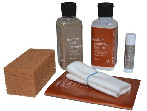Leather Stain Removal by Uniters Leather Sofa Care Kit With Ink Away Stain Remover