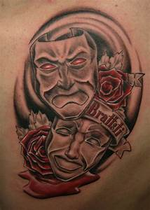 Theatrical Mask Tattoo Pictures to Pin on Pinterest ...