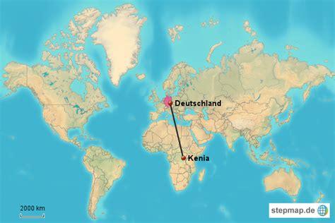 deutschland kenia von anykey landkarte fuer die welt