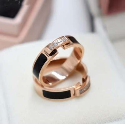 endeli 2019 sale rose gold couple titanium steel ring crystal from swarovski fit and