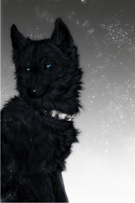 Black Wolves with Blue Eyes