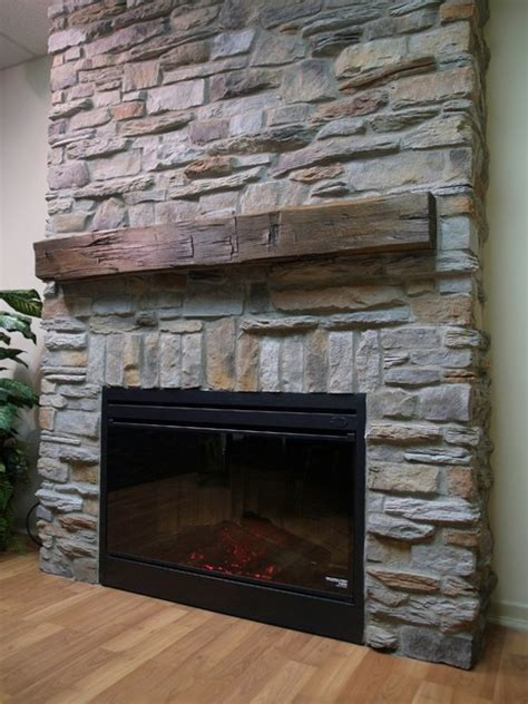 Ledge Stone Veneer Interior Fireplaces
