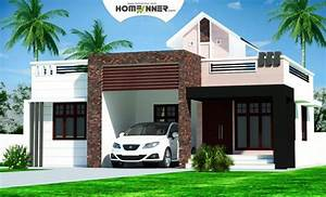 Rectangular Kerala Home Plans Design Low Cost Bhk Double Floor Plan And