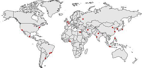 Carte Du Monde Villes Mondiales by Situer 20 Grandes Villes Du Monde