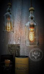 Antique Brass And Glass Pendant Light Balvenie Whiskey Bottle Pendant Lighting Id Lights