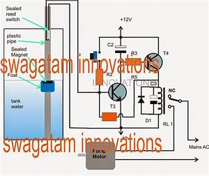 Float Switch Water Level Controller Circuit