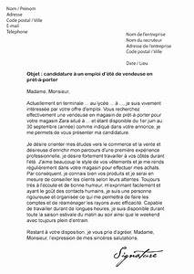 Lettre De Motivation Magasin : lettre de motivation job d 39 t vendeuse mod le de lettre ~ Dailycaller-alerts.com Idées de Décoration