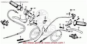 Honda Xr75 K5 1978 Usa Handle Lever    Cable    Switch