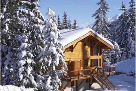 ski chalet in la tania 7 bedrooms tub log wi fi childcare available