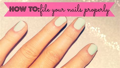 How To File Round Nails