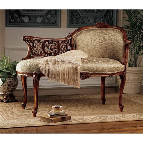 chaise boudoir solid mahogany boudoir antique replica chaise lounge