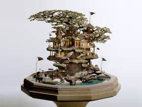bonsai design takanori aiba 39 s amazing bonsai tree castles are miniature living worlds inhabitat green