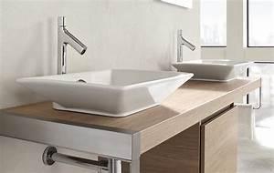Trouvez la salle de bains de vos reves chez espace aubade for Salle de bain design avec meuble pour lavabo avec colonne