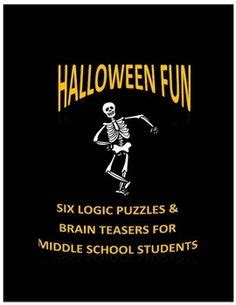 Hard Halloween Brain Teasers by Halloween Logic Puzzles 5 Puzzles No Prep