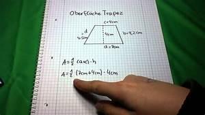 Höhe Eines Trapez Berechnen : oberfl che eines trapezes berechnen so geht 39 s youtube ~ Themetempest.com Abrechnung