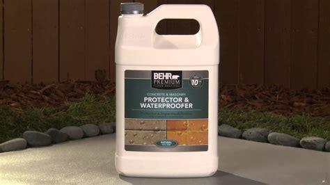 apply behr premium concrete masonry protector