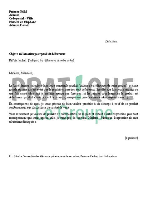 solde cuisine lettre de réclamation pour un produit défectueux pratique fr