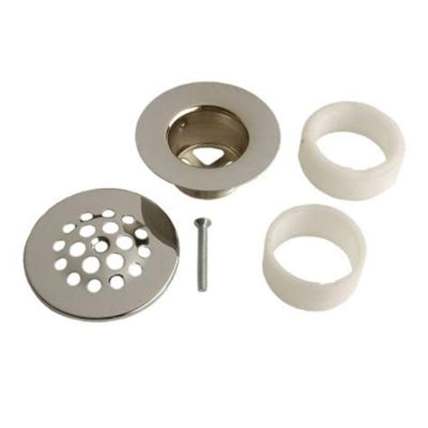 danco chrome tub drain strainer style 88795 the home depot