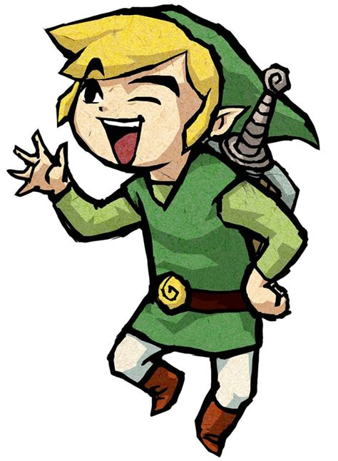 Link Waving Characters And Art The Legend Of Zelda The
