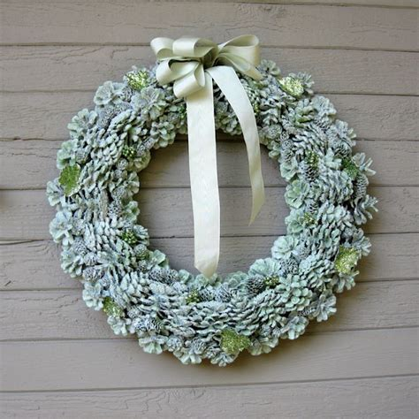 pine cone wreath directions pine cone wreaths a tutorial winter pinterest