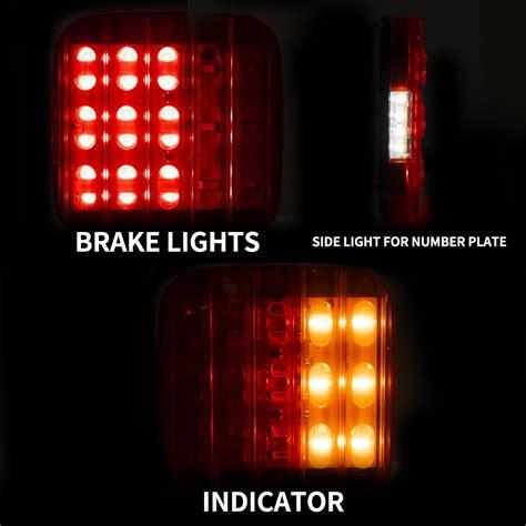 pair led tail light  number plate light led trailer