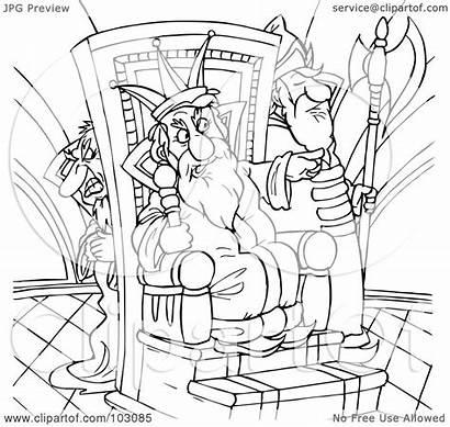 Evil King Coloring Outline Clipart Illustration Royalty