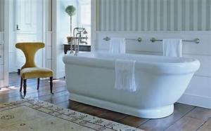 beautiful salle de bain vintage bleu contemporary With salle de bains vintage