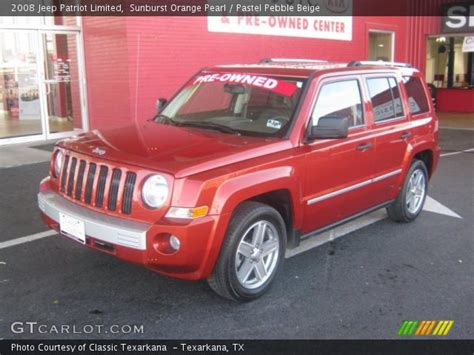 orange jeep patriot sunburst orange pearl 2008 jeep patriot limited pastel