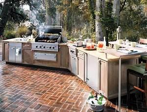 Modular, Outdoor, Wood, Kitchen, Unit, Set