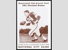 Bobby Franklin 1961 National City Bank Browns #31