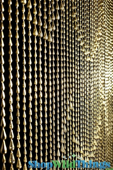 Metallic Gold Cascading Water Beaded Curtains