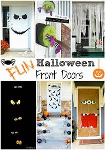 Fun Halloween Front Door Decorations