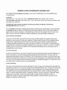 terms and conditions template 6 free templates in pdf With term and condition template