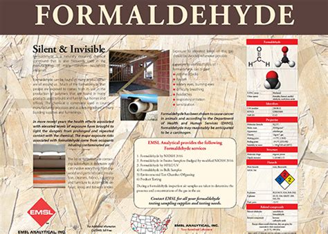 formaldehyde poster