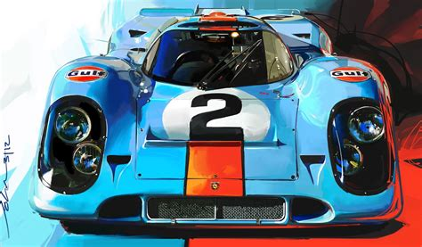 Gulf Porsche 917 By John Krsteski