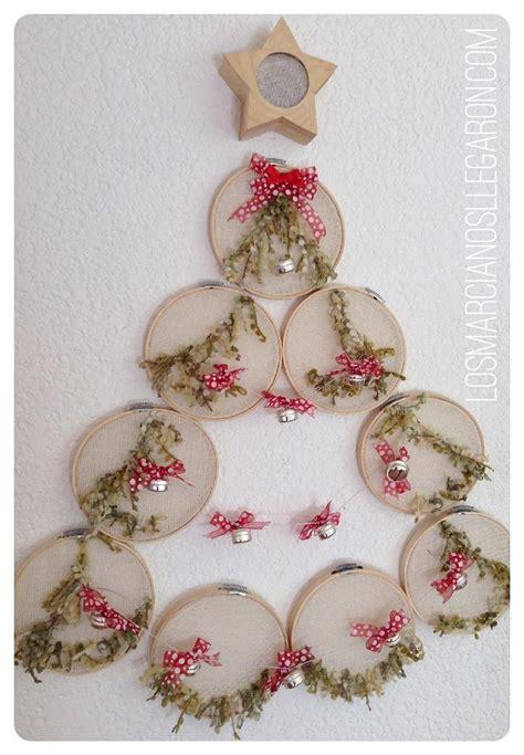 decoraciones navidenas  aros de bordar manualidades