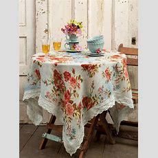 Heirloom Rose Linen Tablecloth  Linens & Kitchen